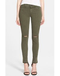 J Brand Mid Rise Skinny Jeans - Lyst