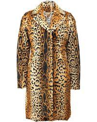 Etro Lamb Leopard Print Coat - Lyst