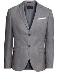 H&M Jacket Slim Fit gray - Lyst