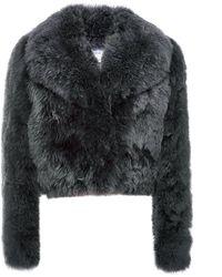 Sonia Rykiel Alpaca Fur Short Jacket - Lyst