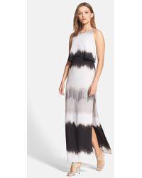 Halston Heritage Print Popover Maxi Dress - Lyst