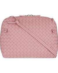 Bottega Veneta Ciel Intrecciato Small Cross-Body Bag - For Women pink - Lyst