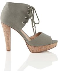 Charlotte Ronson Dietrich Instep Two Piece Shoe in Army Green - Lyst