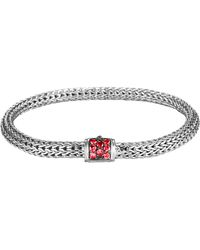 John Hardy Classic Chain 5mm Extra-small Braided Silver Bracelet - Lyst