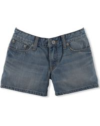 Ralph Lauren Girls' Weekender Denim Shorts blue - Lyst