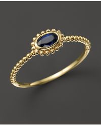 Lagos 18K Gold Oval Sapphire Stackable Ring - Lyst