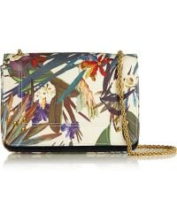 Jérôme Dreyfuss - Eliot Printed Brushed-Satin And Suede Shoulder Bag - Lyst