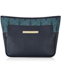 Catherine & Jean Catherine Clutch In Midnight Blue Peacock blue - Lyst
