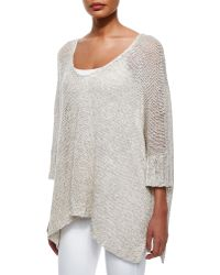 Donna Karan New York Linen-Silk Rope Loose-Knit Sweater - Lyst