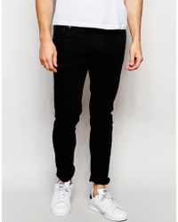 ADPT - Black Skinny Jeans With Stretch - Lyst