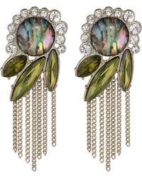 Sam Edelman Girls Club Cluster Fringe Drop Earrings - Lyst