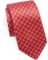 Ferragamo | Gancini Oval Silk Tie | Lyst