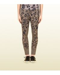 Gucci - Flower Print Techno Riding Pant with Contrast Detail - Lyst