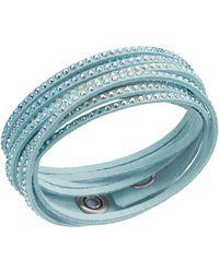 Swarovski - Slake Crystallized Sky Blue Bracelet - Lyst