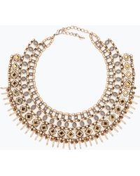 Zara Gold-Tone And Crystal Necklace gold - Lyst