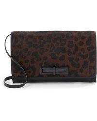 Elliott Lucca - Sli Leopard-print Faux Calf Hair & Leather Clutch - Lyst