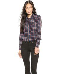 Elizabeth And James Buckley Shirt - Black Multi - Lyst