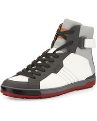 Bally Aikane Coated High-top Sneaker - Lyst