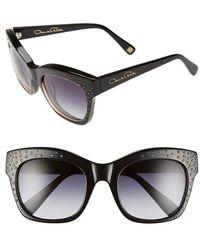 Oscar de la Renta - '214' 53mm Sunglasses - Lyst