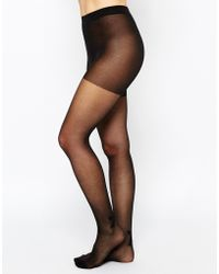 Pieces - Tights With Bow Seam Detail - Lyst