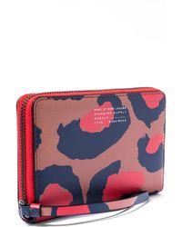 Marc By Marc Jacobs - Pink Sophisticato Leopard Print Wingman Wallet - Lyst