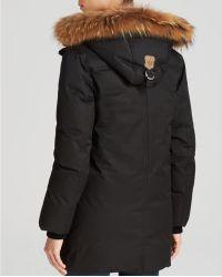 Mackage Fur Trim Marla Lavish Down Coat - Black
