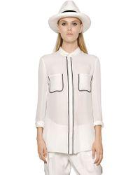 Emporio Armani Silk Crepe De Chine Shirt - Lyst