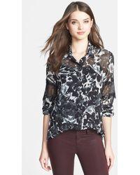 Kut From The Kloth Women'S 'Stella' Lace Inset Shirt - Lyst