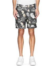 Scotch & Soda Floral Print Cotton-Linen Shorts - Lyst