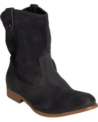 NDC Perforated Tiffany Boots black - Lyst
