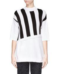 3.1 Phillip Lim Stripe Intarsia Rib Knit Sweater - Lyst
