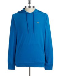 Lacoste Cotton Hooded Tee - Lyst