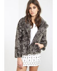 Forever 21 Boxy Faux Fur Jacket - Lyst