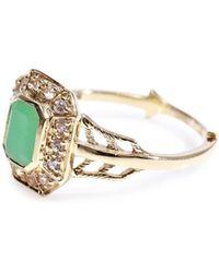 Zoe & Morgan - Chrysoprase Sapphire Gold Ring - Lyst
