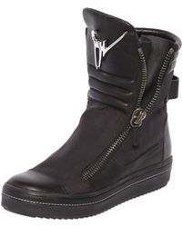 Giuseppe Zanotti Homme Canvas & Nappa Leather High Top Sneakers - Lyst