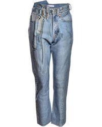 Faustine Steinmetz - Smudged Printed Denim Jeans - Lyst