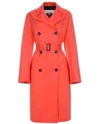 Paul Smith Women's Coral Cotton Trench Coat - Red