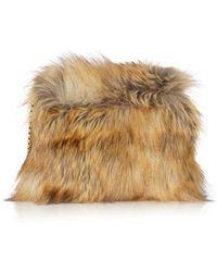 Karen Millen Rockefeller Fur Bag - Natural