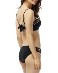 Coco Rave Crocheted Ruffle Bralette Swim Top - Black