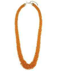Topshop Beaded Long Necklace - Lyst