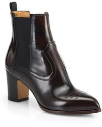 Maison Margiela Brushed Patent Leather Ankle Boots - Lyst