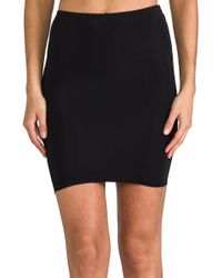 Yummie By Heather Thomson - Colleen Skirt Slip in Black - Lyst
