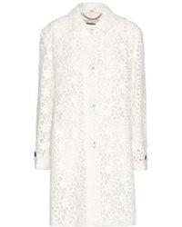 Burberry London Stones Floral Lace Coat - Lyst