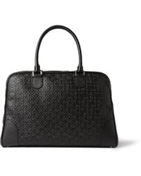 Loewe Amazona Embossed Leather Holdall Bag - Lyst