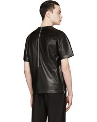 99% Is - Black Leather Circle T_Shirt - Lyst
