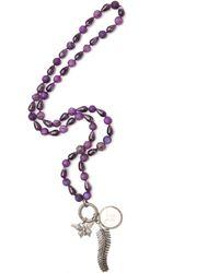 CB Bronfman - Purple 3 Diamond Charms Necklace - Lyst