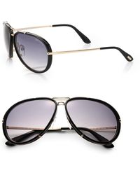 Tom Ford Cyrille 63Mm Aviator Sunglasses - Lyst