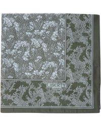 Liberty - Green Cranston Print Silk Pocket Square - Lyst