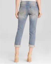 D-ID Jeans - Melville Boyfriend In 5Th Avenue Destroy - Blue