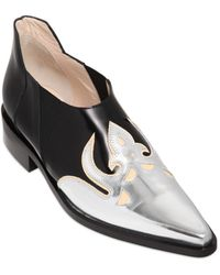 Paco Rabanne 30Mm Leather Western Shoes - Metallic